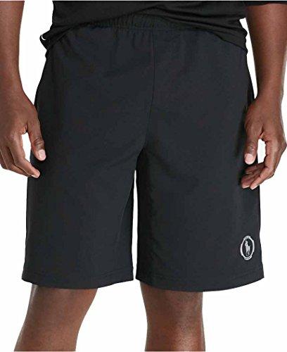 Polo Ralph Lauren Men's Body-Mapped Athletic Shorts Black (X-Large)