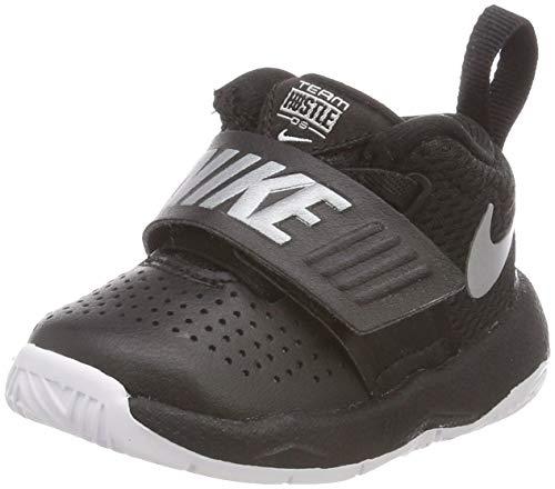 (Nike Toddlers Team Hustle D 8 (TD) Black/Metallic Silver White Basketball Shoe 8 Infants US)