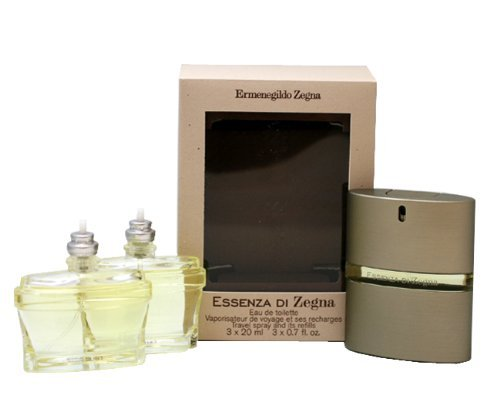 Ermenegildo Zegna Essenza Di Zegna Eau De Toilette Spray Travel Pack for Men, 0.7 Ounce by Ermenegildo Zegna
