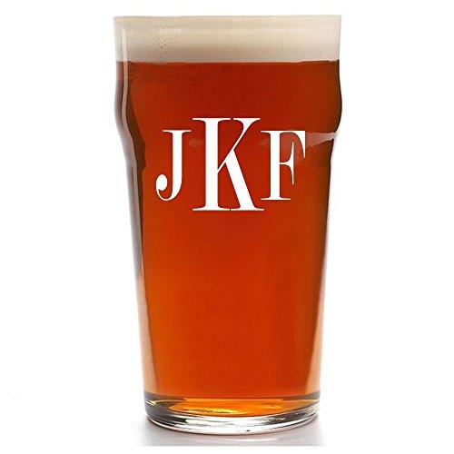 monogrammed beer glasses - 2