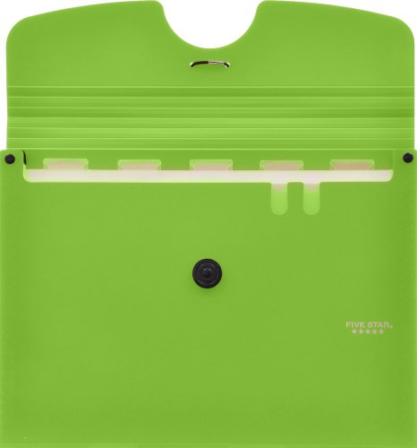 Five Star 6-Pocket Expanding File, 13 x 9.38 Inches, Lime (72925) Photo #3