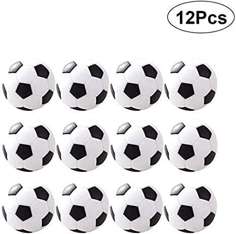 CBA BING 36mm Blanca del Vector de fútbol Foosballs reemplazo Bolas de Mesa Juegos Oficiales reemplazo Paquete de 12 Mini Negro y: Amazon.es: Deportes y aire libre