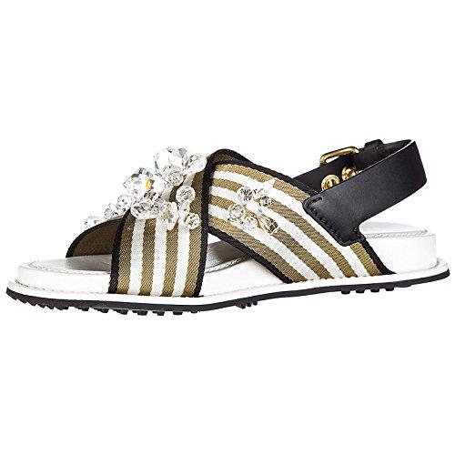 Car Shoe Women's Leather Sandals nastro riga White 6gM3R