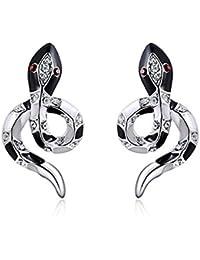 Black snake earrings for women