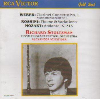 Weber: Clarinet Concerto No.1; Mozart: Andante K315; Rossini: Theme and Variations for Clarinet and Orchestra (Rossini Theme And Variations)
