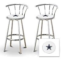 2 29 Cowboys Logo Themed Custom Specialty Chrome Metal
