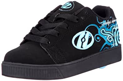 Heelys Dreamer Wheeled Shoe (Toddler/Youth/Adult),Black/Blue,8 Women's M US