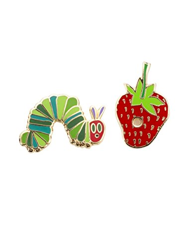 Out of Print World of Eric Carle, The Very Hungry Caterpillar Enamel Pin Set -