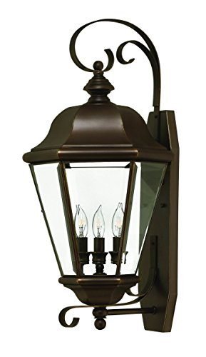 Hinkley 2428CB Traditional Three Light Wall Mount from Clifton Park collection in Copperfinish,