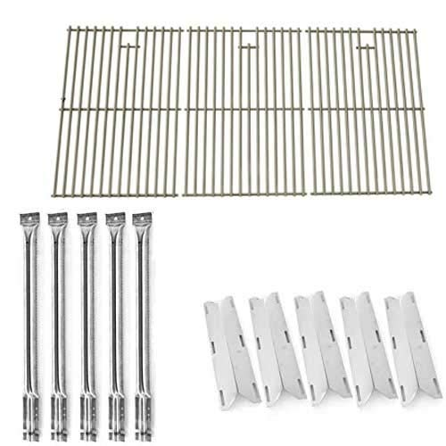 Repair Kit For Perfect Flame 720-0522, Charmglow 720-0396, 720-0578 Gas Grill Includes 5 Stainless Steel Burners, 5 Stainless Steel Heat Shields and Stainless Steel Cooking Grates