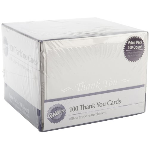 Wilton Basic Thank You Cards - 100 Count by Wilton