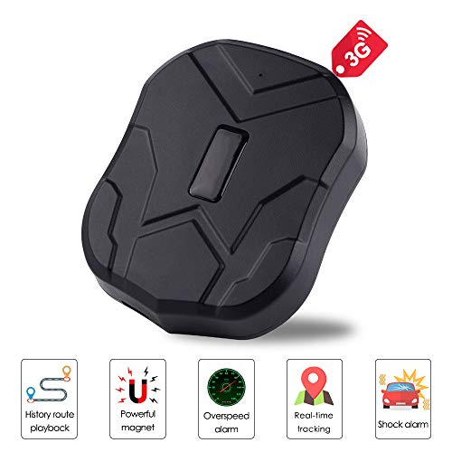 HAJZF 3G GPS Tracker Car,60 Day Standby Waterproof GSM/GPS Tracker Magnetic Adsorption Electronic Fence, Overspeed/Low…