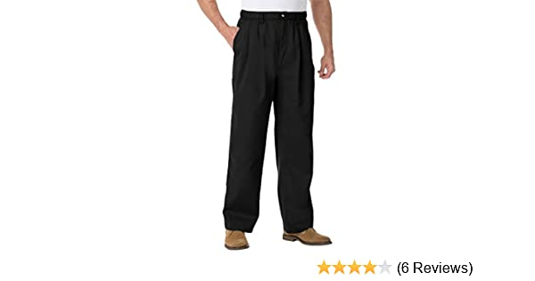 c5a909d0115 KingSize Men s Big   Tall Full Elastic Pleated Knockarounds in Twill at  Amazon Men s Clothing store