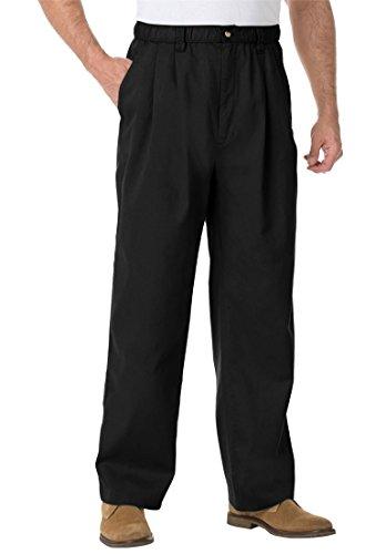 KingSize Men's Big & Tall Knockarounds Pleated Pants In Twill Or Denim, Black Twill Pants Jeans