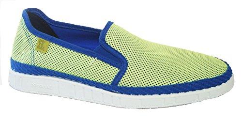 Potomac Canvas Sneaker Halbschuhe Sommer Slipper blau neon gelb