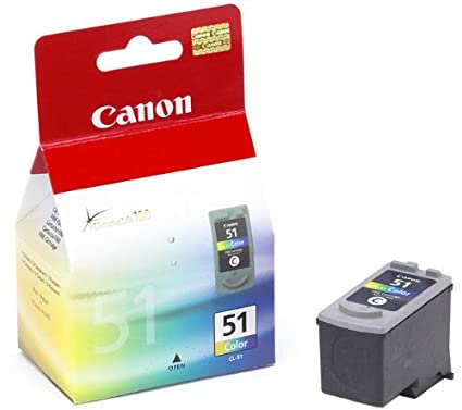 Canon CL-51XL Cartucho de tinta original Tricolor XL para Impresora de Inyeccion de tinta Pixma MP150-MP160-MP170-MP180-MP450-MP450x-MP460-iP2200