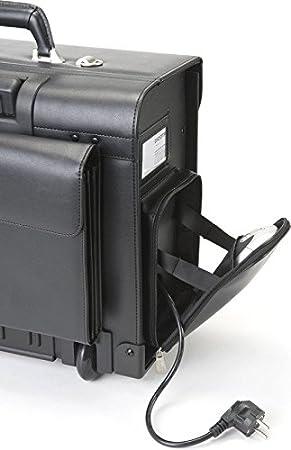 DICOTA QuickFix Fuer HP 100 Drucker optimale Druckerbefestigung im Notebookkoffer aus Aluminium in schwarz