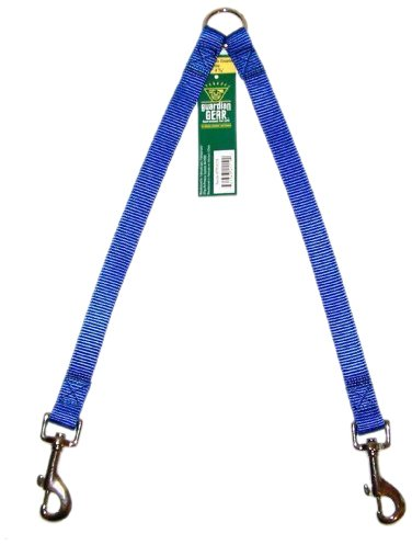 Guardian Gear Nylon 2-Way Large Dog Coupler with Nickel Plated Swivel Clip, 24-Inch, Blue, My Pet Supplies