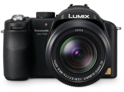 Panasonic DMC-FZ50 10.1MP Digital Camera with 12x Optical Image Stabilized Zoom (Black) ()