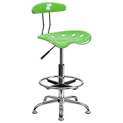 Superb Amazon Com Apple Green Drafting Stool With Tractor Seat And Short Links Chair Design For Home Short Linksinfo