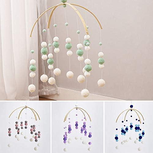 Violet Felt Ball Mobile Mobile Plafond P/épini/ère Carillons /éoliens Hochet lit Cloche Jouets Ornements Suspendus pour B/éb/é lets make Mobile berceau