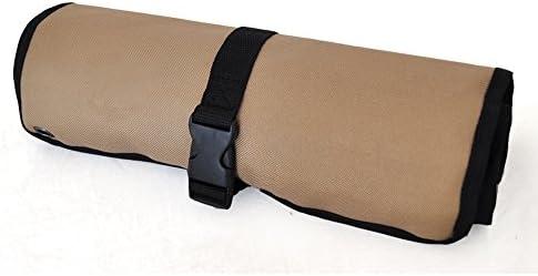 Zafina ツールバッグ 工具箱 工具袋 コンパクトに収まるロールアップケース 収納ポケット数10ヵ所 (45*32cm)