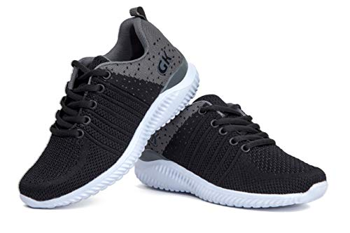Kids Athletic Tennis Shoes - Little Kid Sneakers with Girl and Boy Sizes Black/Grey Size 13 Little Kid (Negro/Gris - 31) 13 M US