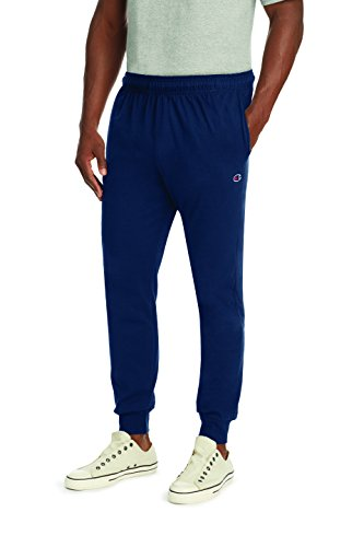 (Champion Men's Jersey Jogger, Navy, M)