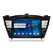 RoverOne Android 4.4.4 In Dash Car DVD GPS Navigation System for Hyundai IX35 Tucson 2009-2013 with Stereo Radio Bluetooth GPS SD USB Mirror Link Canbus S160 Touch Screen