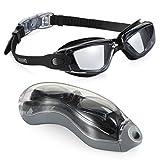 YOMYM Gafas de natación, sin Fugas Gafas de natación para Interiores, antiniebla, con protección UV Lentes Transparentes espejadas para Adultos Mujeres Hombres Jóvenes niños