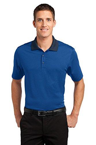 (Port Authority Men's Fine Stripe Performance S Seaport Blue/Dress Blue Navy )