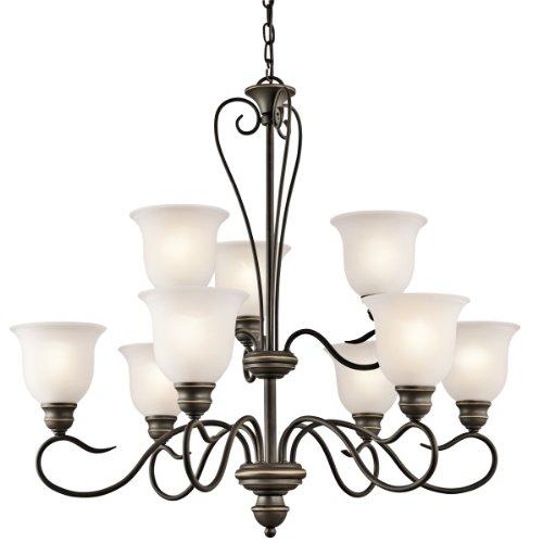 Kichler 42907OZ Tanglewood Chandelier 9-Light, Olde Bronze -