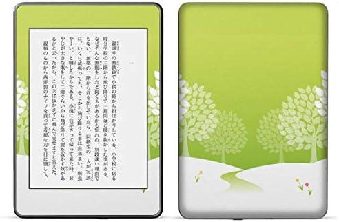 igsticker kindle paperwhite 第4世代 専用スキンシール キンドル ペーパーホワイト タブレット 電子書籍 裏表2枚セット カバー 保護 フィルム ステッカー 016499 木 緑 自然 植物 樹木
