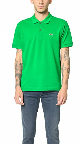 5326cc0c Lacoste Men's Short Sleeve Pique L.12.12 Original Fit Polo Shirt,  Chlorophyll Green, 4