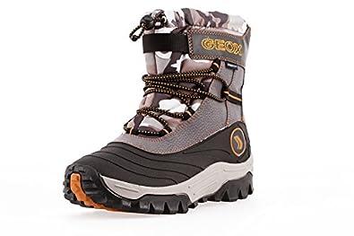 luxuriant dans la conception design intemporel mode attrayante Geox Respira : Junior Garçon Bottes D'hiver Jr Himalaya Gris ...