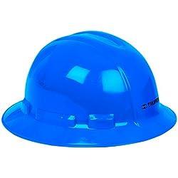 Truper CAS-ZX, Casco de seguridad, azul, ala ancha