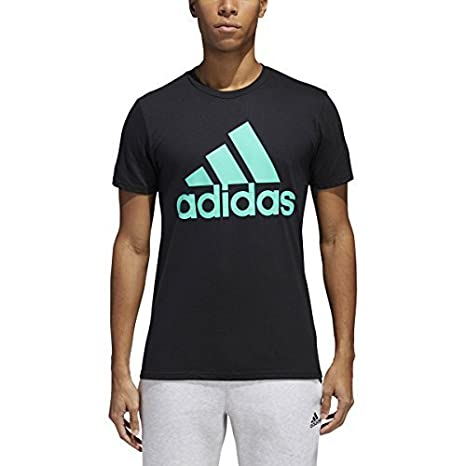 competitive price 91ea3 4aed4 Image Unavailable. Image not available for. Color adidas Mens Badge of Sport  Graphic Tee ...