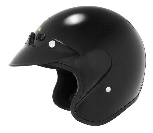 Black U6 Open Face Helmet (Cyber Helmets U-6 Solid Helmet , Size: XL, Primary Color: Black, Distinct Name: Black, Helmet Category: Street, Helmet Type: Open-face Helmets, Gender: Mens/Unisex 641244)
