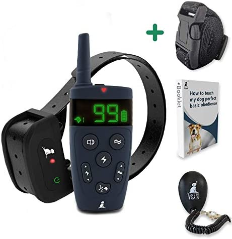Love To Train Dog Training Collar with Remote 1600 Long-Range Training Collar for Small, Medium, and Large Dogs Waterproof Dog Collar for All Breeds.