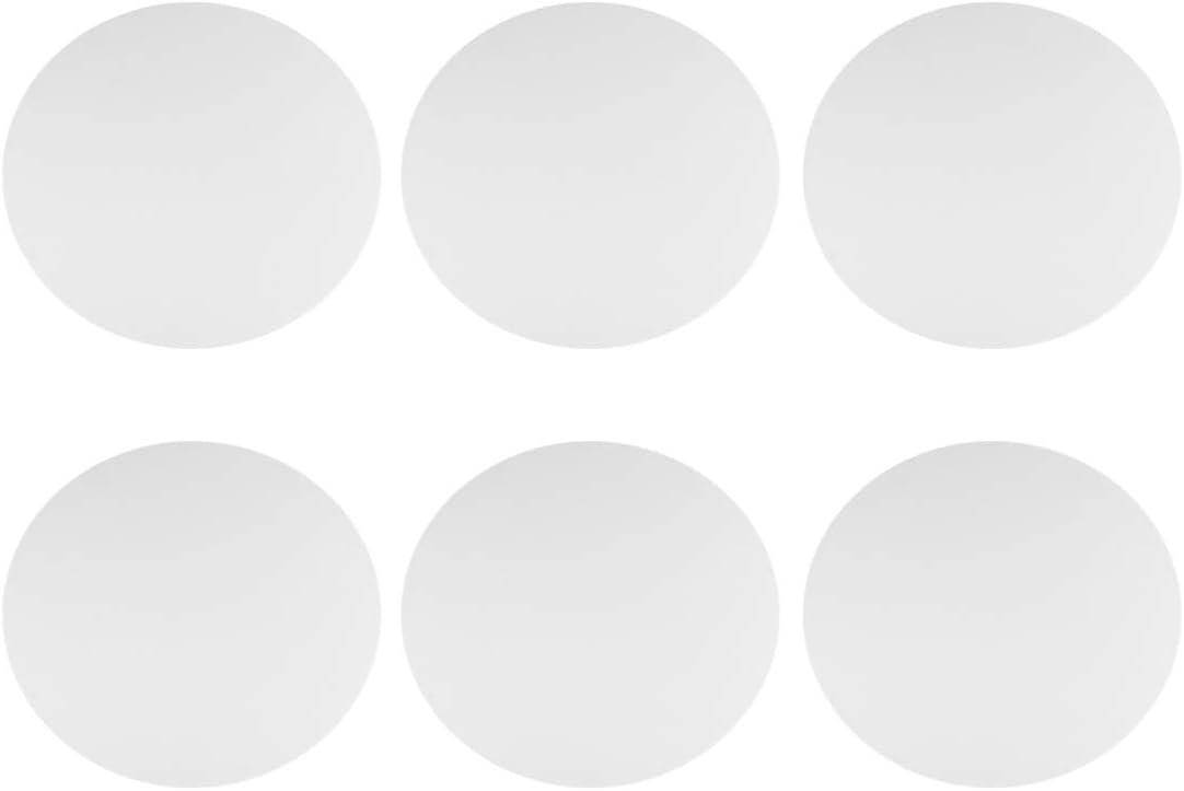 Milisten 6 St/ücke Runde Schnittkante Leinwand Panel Stretched Leinwand /Ölfarbe Malerei Bord 30 cm