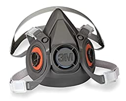 ERB Safety 13537 3M™ Half & Full Facepiece Respirators 6000 Series & Accessories 6300 Half Mask Large (Pack of 8)