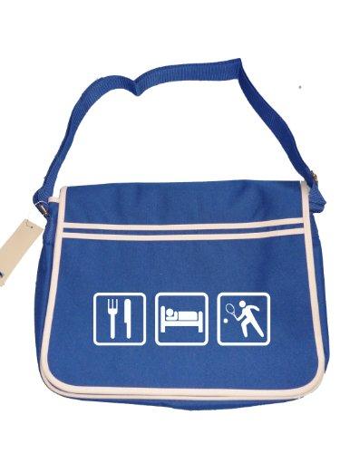 Team Eat Hobby Player Bag Blue Tennis Mens Sport Messenger Sleep Retro wqIOSxqBT