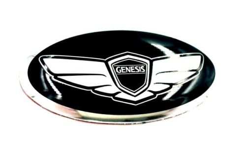 Genesis WING Steering Wheel Emblem Overlay Metal Coupe or Sedan (LODEN BRAND) ()