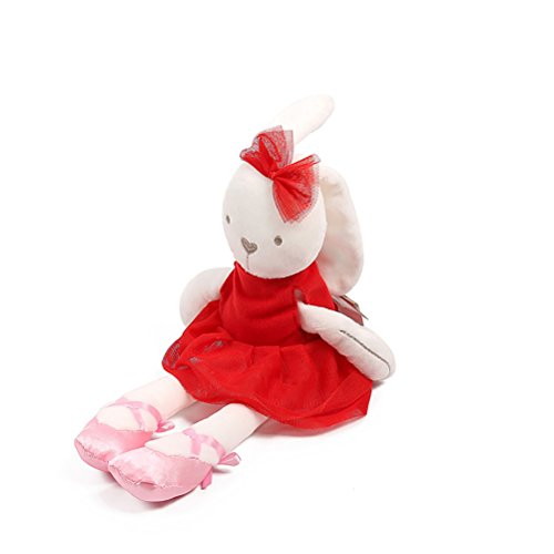Machines Playmate Ball (Aosbos Bunny Doll Baby Toys Ballerina Rabbit Children Playmate Stuffed Animal Soft Dolls Birthday Gift Red)