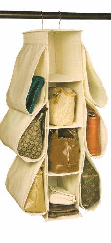Richards Homewares Hanging Handbag Organizer Canvas