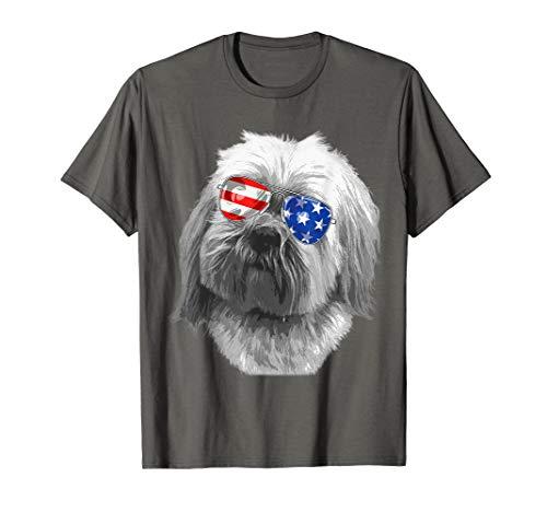 Lhasa Apso Dogs - Vintage Lhasa apso Dog Shirt American USA Glass Tshirt