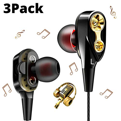 Enraciner 4D in-Ear Dual Driver Wired Headphones Extra HD Base with Free mic { Buy 1 Headset Get Free 2 Headset }
