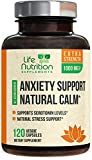 Anxiety Supplements Natural Stress Relief 1000mg - Mood Boost, Thyroid & Adrenal Support, Made in USA, Serotonin & Dopamine Enhancer w/Ashwagandha & 5HTP - 120 Capsules