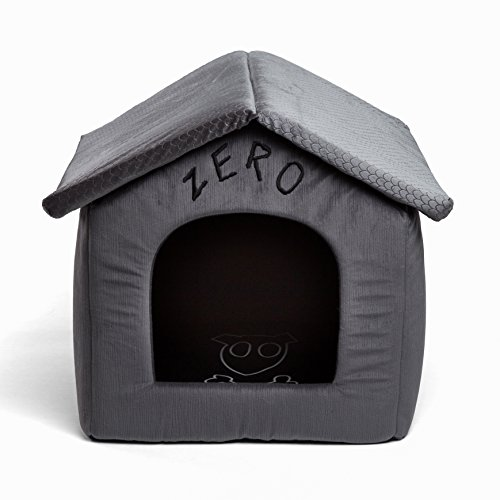 Disney Nightmare Before Christmas Zero Portable Pet House Dog Bed / Cat Bed with Detachable Top, Embroidery, Machine Washable, Dirt/Water Resistant Bottom (Available in two (Designer Cat Beds)