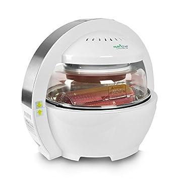 NutriChef freidora de aire digital 6 en 1 halógeno horno Multi cocina asador cocina tecnología de